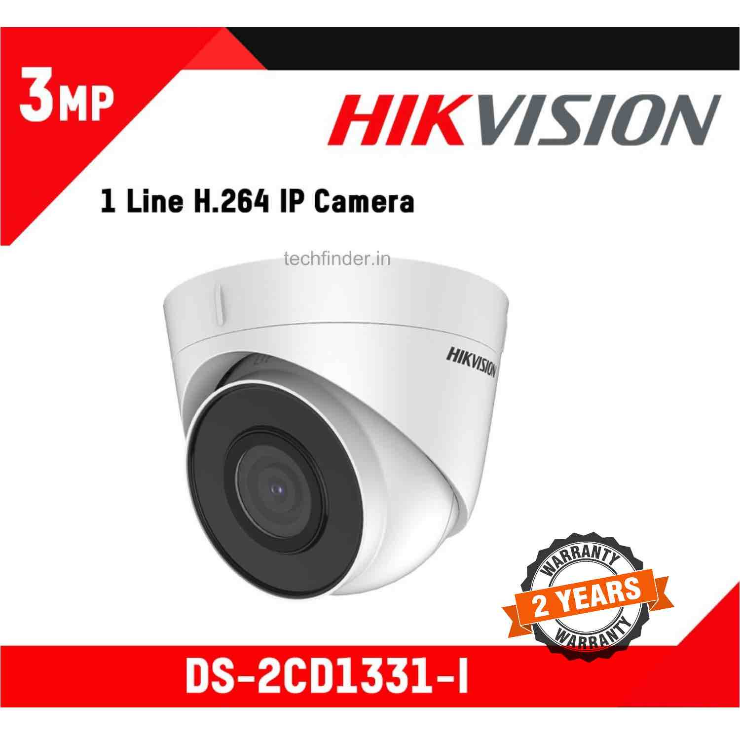 Hikvision DS-2CD1331-I 3mp Ip Ir Indoor Dome Camera