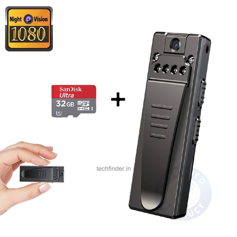 4K FHD High Resolution Wearable Mini Hidden Spy Camera