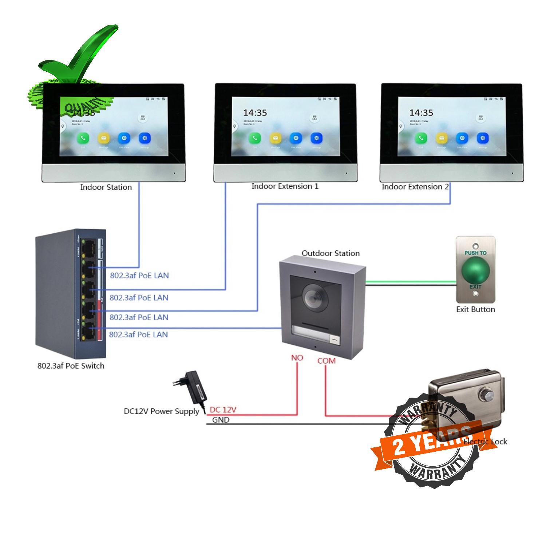 Hikvision DS KIS602 IP Video Intercom Door Phone